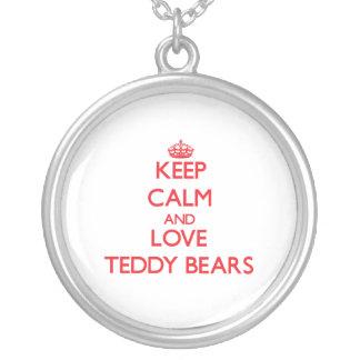 Keep calm and love Teddy Bears Necklace