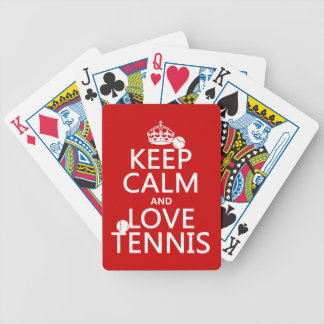 Keep Calm and Love Tennis Bicycle Playing Cards