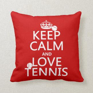 Keep Calm and Love Tennis Cushion
