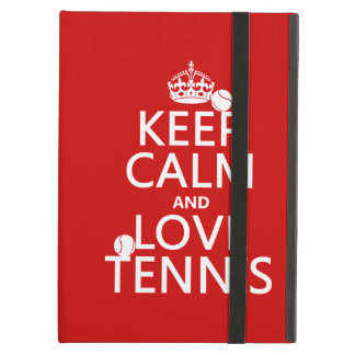 Keep Calm and Love Tennis (customize color) iPad Air Case