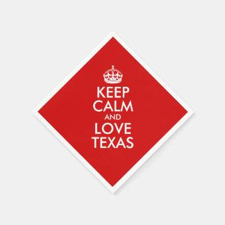 Keep Calm and Love Texas Paper Serviettes