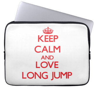Keep calm and love The Long Jump Laptop Computer Sleeves