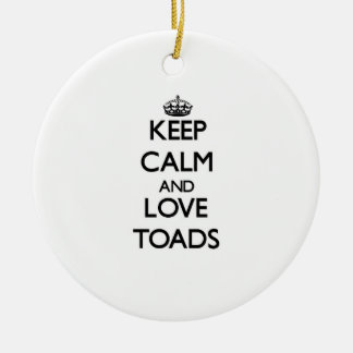 Keep calm and Love Toads Christmas Tree Ornaments