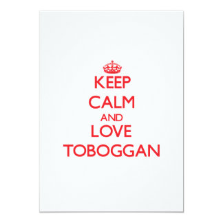 Keep calm and love Toboggan 13 Cm X 18 Cm Invitation Card