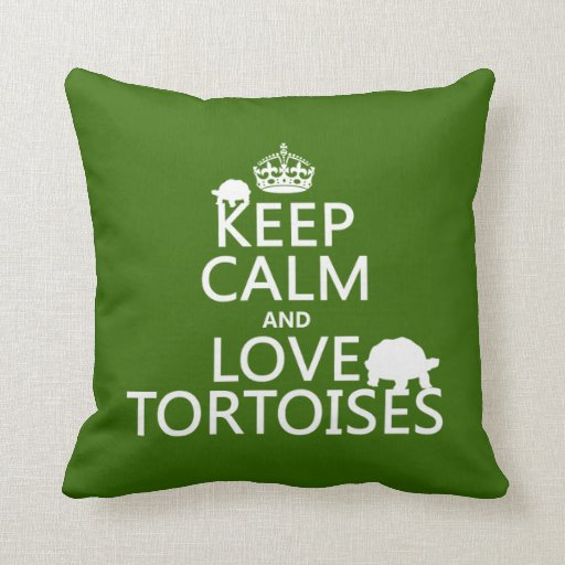 Keep Calm and Love Tortoises (any color) Pillows