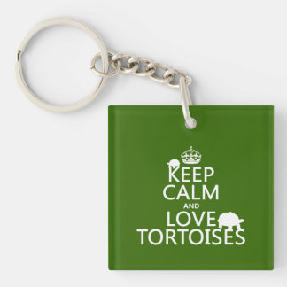 Keep Calm and Love Tortoises (any color) Key Ring