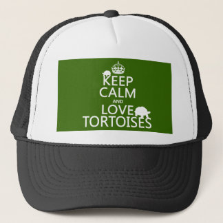 Keep Calm and Love Tortoises (any color) Trucker Hat