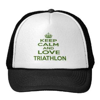 Keep Calm And Love Triathlon Hat