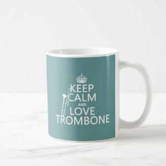 Keep Calm and Love Trombone (any background color) Coffee Mug
