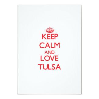 Keep Calm and Love Tulsa 13 Cm X 18 Cm Invitation Card