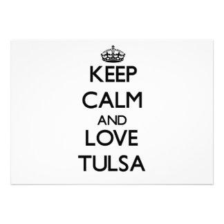 Keep Calm and love Tulsa Invites