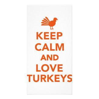 Keep calm and love Turkeys Photo Greeting Card