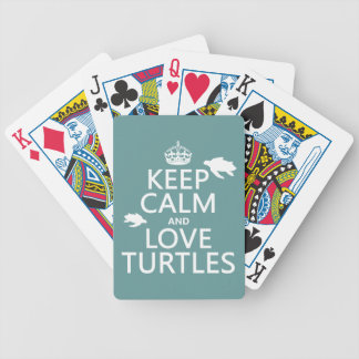Keep Calm and Love Turtles Bicycle Playing Cards