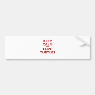 Keep Calm and Love Turtles Bumper Sticker