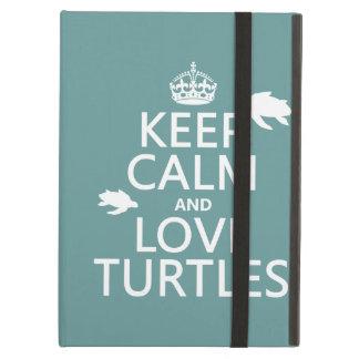 Keep Calm and Love Turtles iPad Air Cover