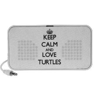 Keep calm and Love Turtles Notebook Speakers