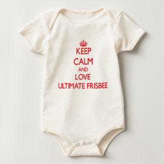 Keep calm and love Ultimate Frisbee Baby Bodysuit