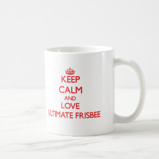 Keep calm and love Ultimate Frisbee Coffee Mug
