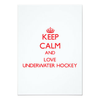 Keep calm and love Underwater Hockey Custom Announcements