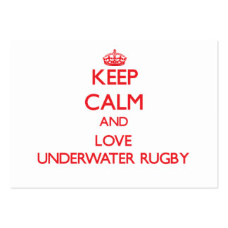 Keep calm and love Underwater Rugby Business Card