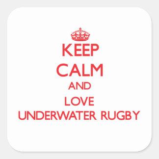 Keep calm and love Underwater Rugby Sticker