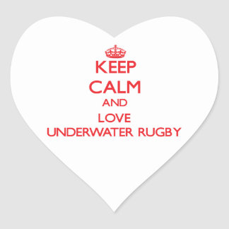 Keep calm and love Underwater Rugby Stickers