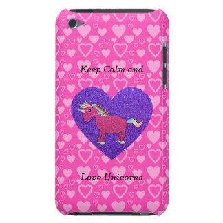 Keep calm and love unicorns iPod Case-Mate case