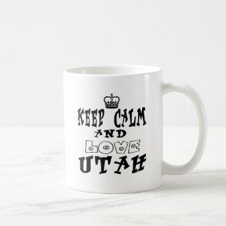 Keep calm and love Utah Coffee Mugs