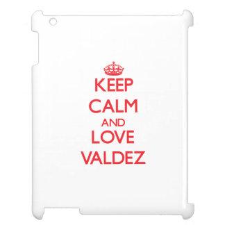 Keep calm and love Valdez iPad Case