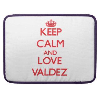Keep calm and love Valdez Sleeve For MacBooks
