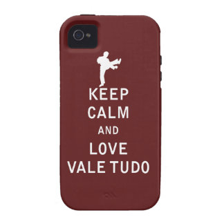 Keep Calm and Love Vale Tudo iPhone 4 Covers