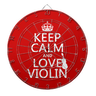Keep Calm and Love Violin (any background color) Dartboard
