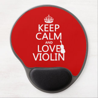 Keep Calm and Love Violin (any background color) Gel Mouse Mat