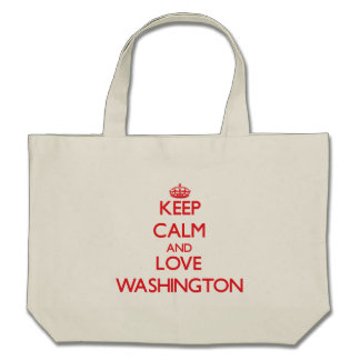 Keep Calm and Love Washington Canvas Bags