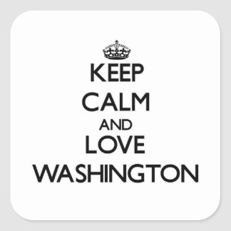 Keep Calm and love Washington Square Stickers