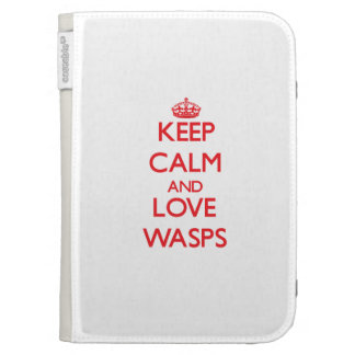 Keep calm and love Wasps Case For The Kindle