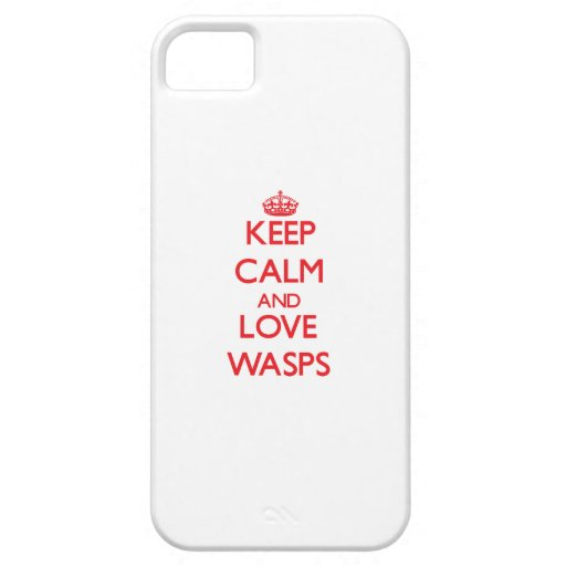 Keep calm and love Wasps Cover For iPhone 5/5S
