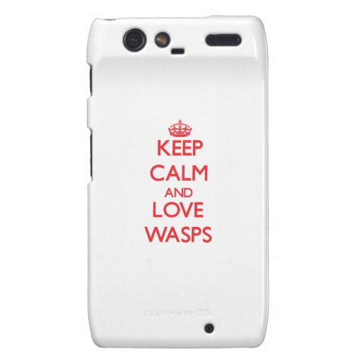Keep calm and love Wasps Motorola Droid RAZR Cover