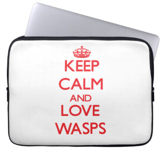 Keep calm and love Wasps Laptop Sleeves
