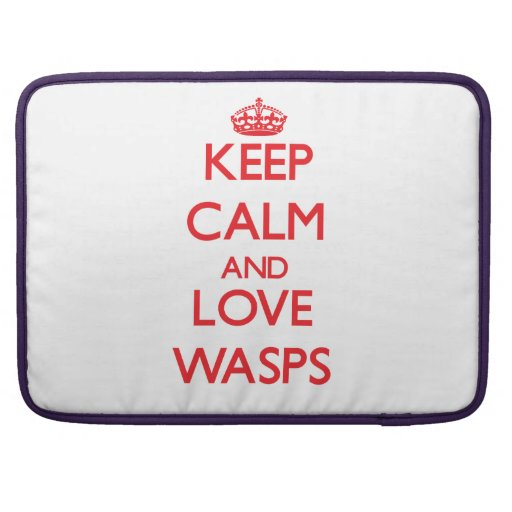 Keep calm and love Wasps Sleeve For MacBook Pro