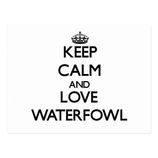 Keep calm and Love Waterfowl Post Card