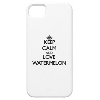 Keep calm and love Watermelon Barely There iPhone 5 Case