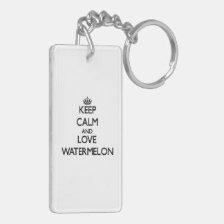 Keep calm and love Watermelon Key Ring