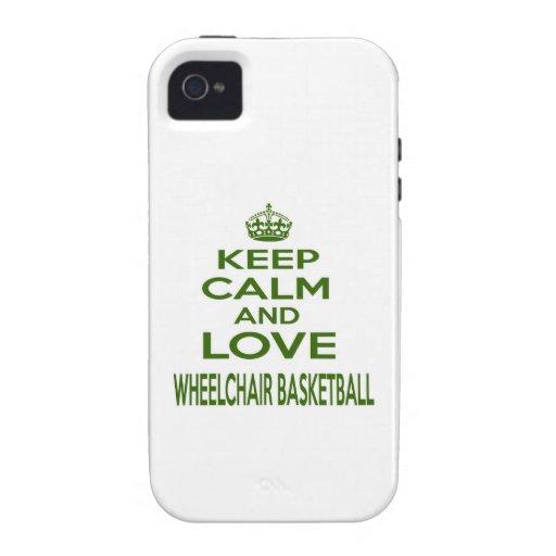 Keep Calm And Love Wheelchair Basketball iPhone 4 Case