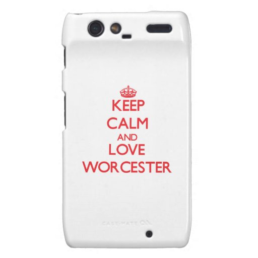 Keep Calm and Love Worcester Motorola Droid RAZR Cover