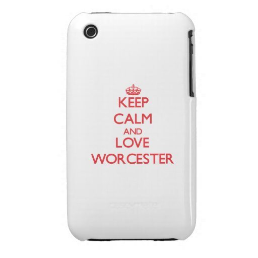 Keep Calm and Love Worcester iPhone 3 Case-Mate Case