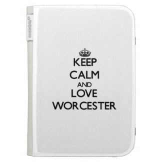 Keep Calm and love Worcester Kindle 3G Cover