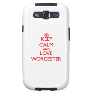 Keep Calm and Love Worcester Galaxy SIII Case
