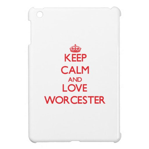 Keep Calm and Love Worcester Cover For The iPad Mini