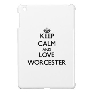 Keep Calm and love Worcester iPad Mini Cover
